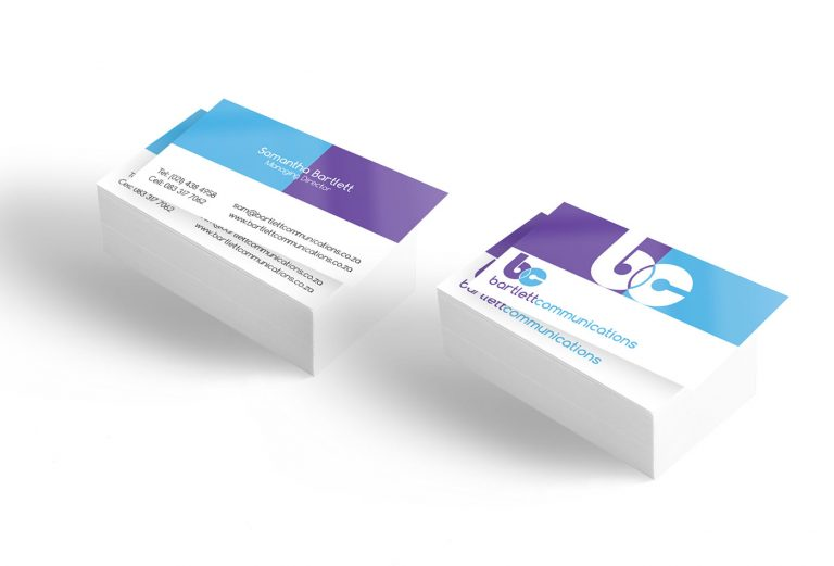Bartlett Communications business card design