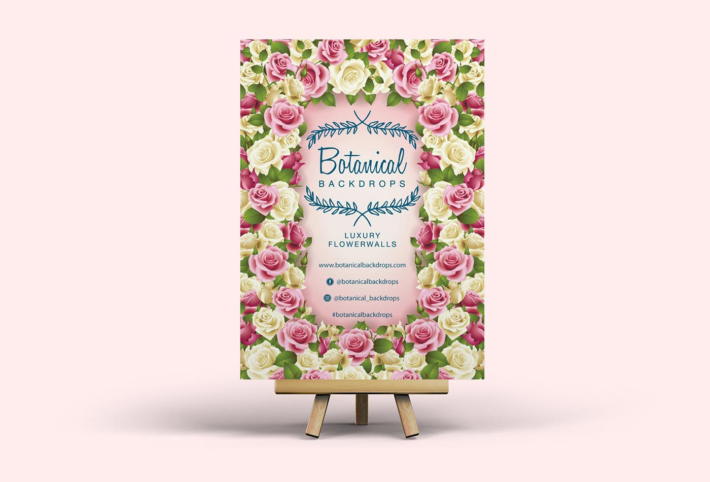 Botanical Backdrops poster design