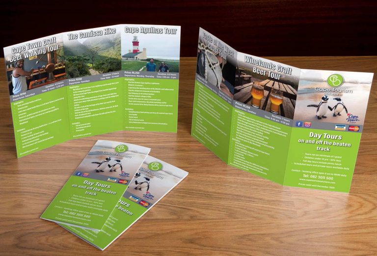 Cape Tourism Solutions brochure design