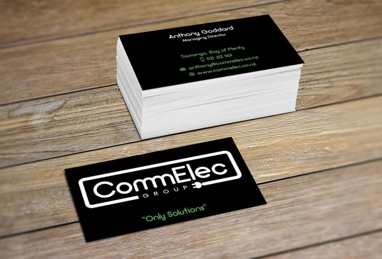 CommElec Group business card design