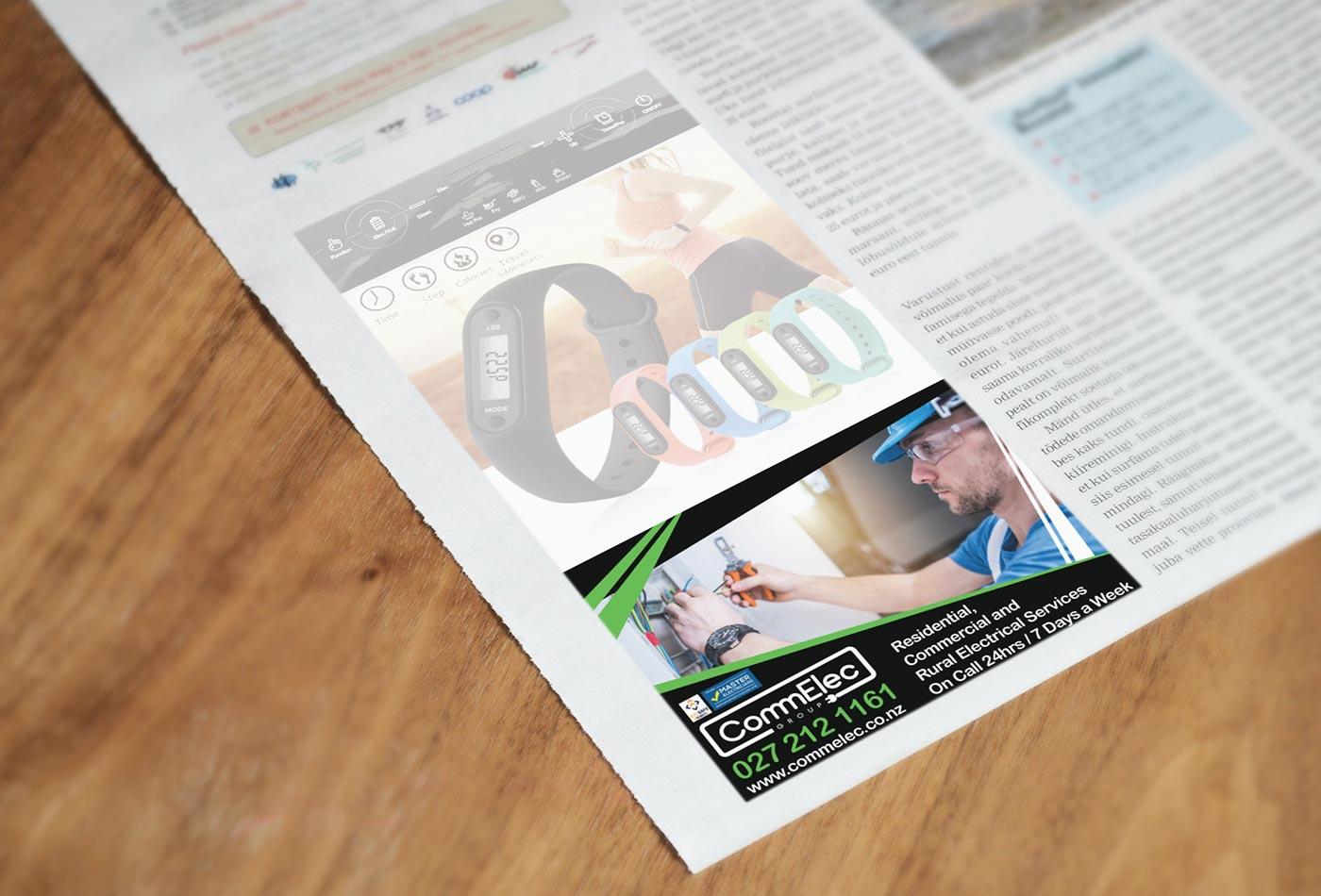 CommElec Group newspaper advert design