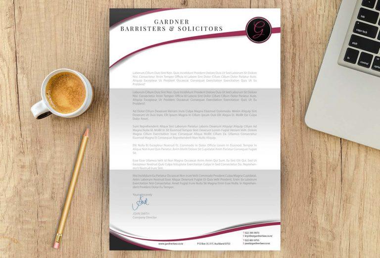 Gardner Barrister letterhead design