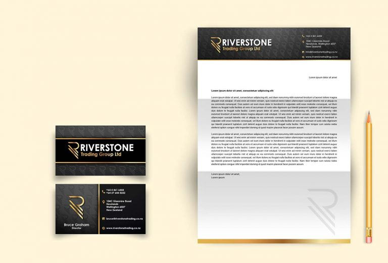 Riverstone Trading Group stationery design