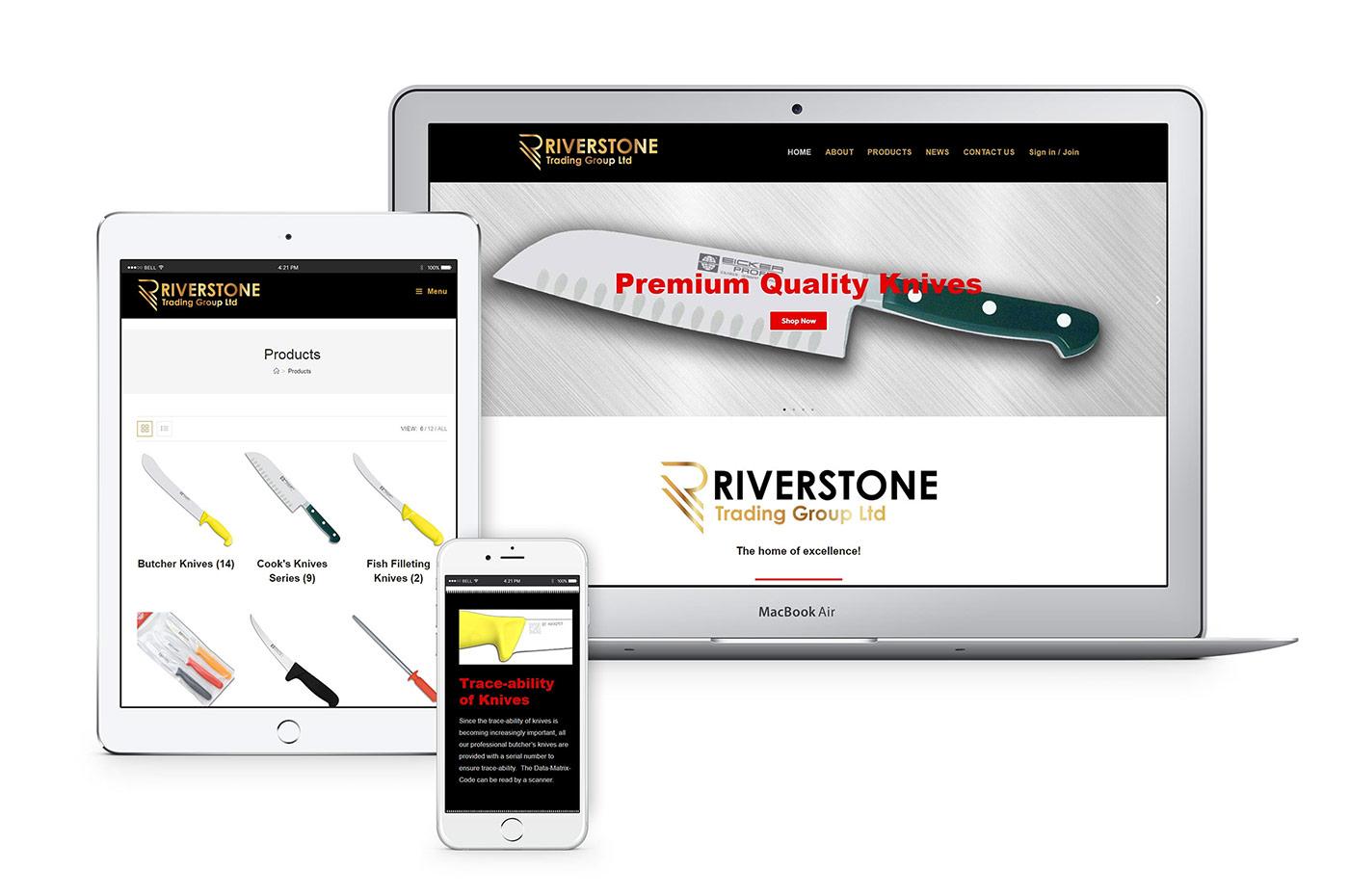 Riverstone Trading Group website & branding
