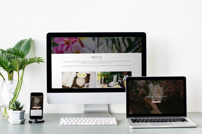 Advanced Beauty by Kelly website & branding