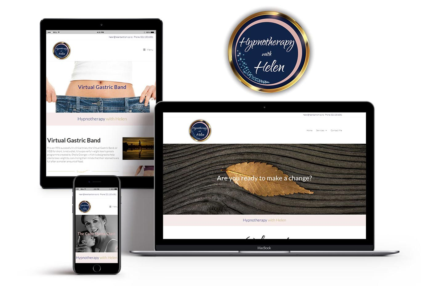 Hypnotherapy with Helen website and branding