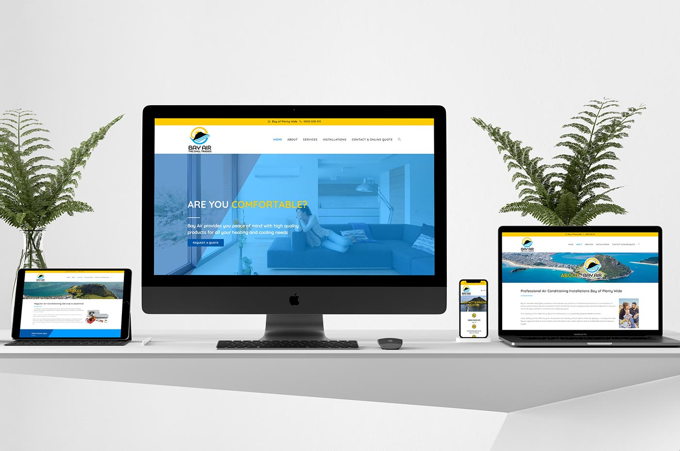 Bay Air website and branding
