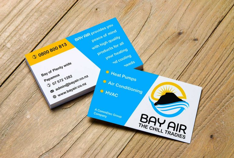 Bay Air business card design