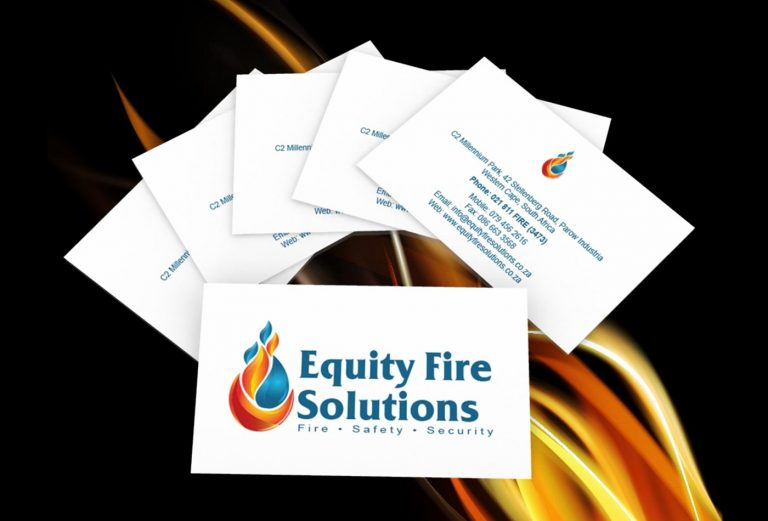 Equity Fire Solutions business card design