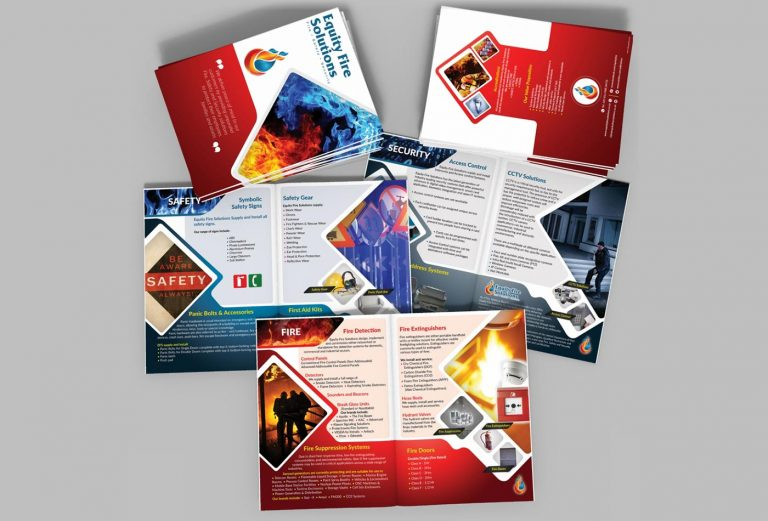 Equity Fire Solutions company profile design