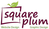 Square Plum Logo Website Design