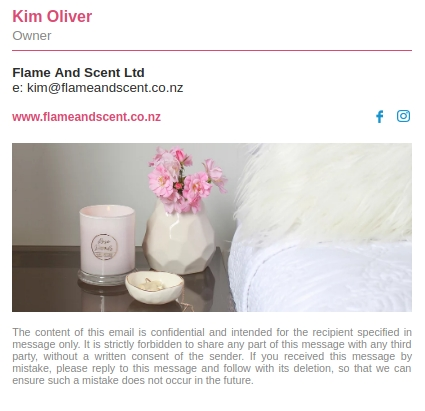 Flame Scent Email Signature